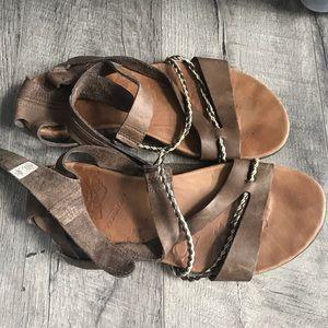 Merrell Henna Brown Strap Sandals